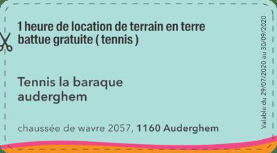 1160 - Tennis la baraque auderghem - 1