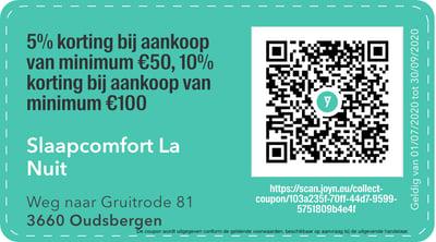 3660- QR -  Slaapcomfort La nuit
