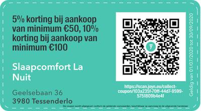 3980- QR -  Slaapcomfort La nuit