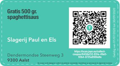 9300 - QR -  Slagerij Paul en Els